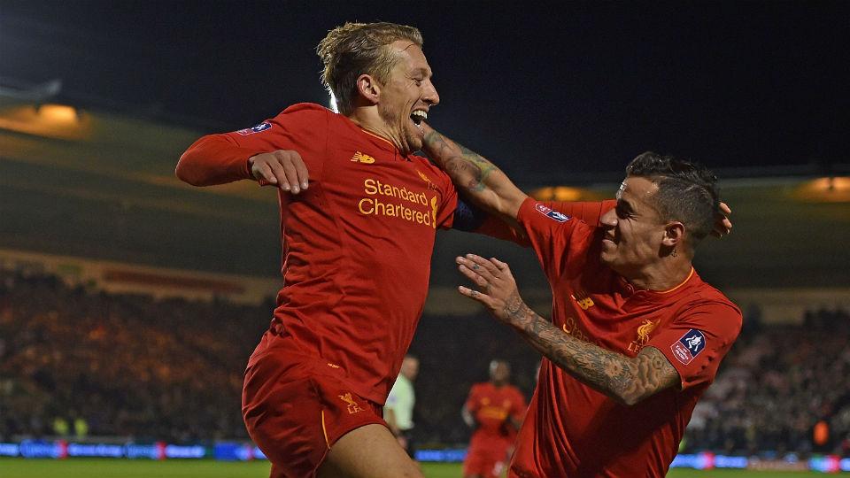 Gol tunggal Lucas Leiva bawa Liverpool melaju ke babak selanjutnya